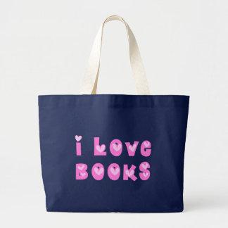 I Love Books Dark Bags