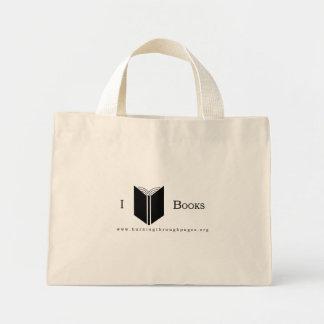 I Love Books Mini Tote Bag
