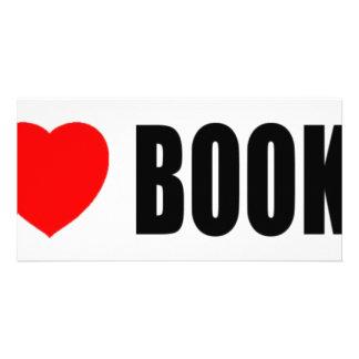 I Love Books Custom Photo Card