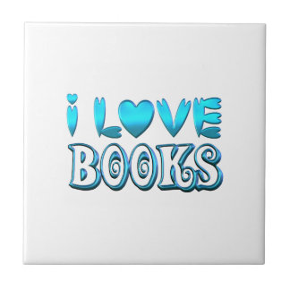 I Love Books Tile