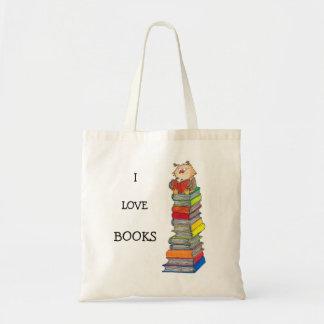 I LOVE BOOKS tote bag by Nicole Janes