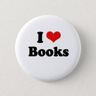 I Love Books Tshirt 2 Inch Round Button