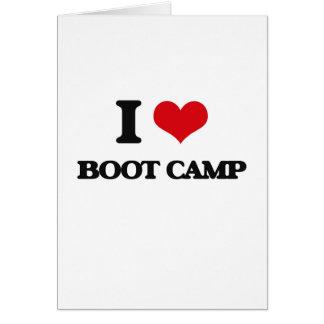 I Love Boot Camp Card