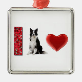 I Love Border Collies!!~Border Collie Ornament