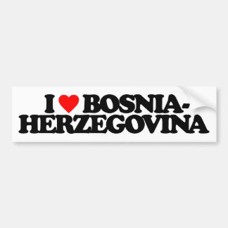 I LOVE BOSNIA-HERZEGOVINA BUMPER STICKER