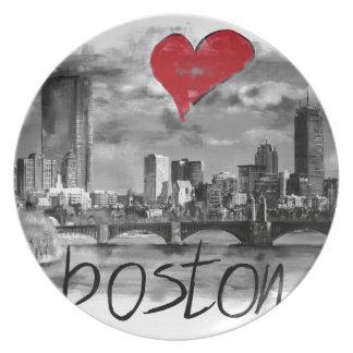 I love Boston Plate
