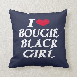 I LOVE BOUGIE BLACK GIRL THROW PILLOW