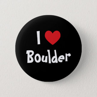 I Love Boulder 2 Inch Round Button