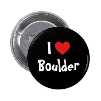 I Love Boulder 2 Inch Round Button