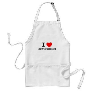 I Love Bow Hunting Standard Apron