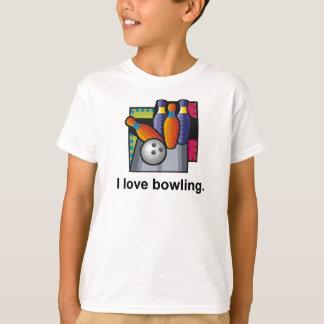 I Love Bowling Kids T-shirts