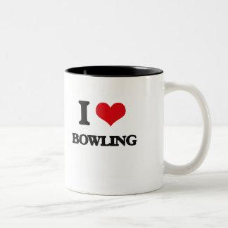 I Love Bowling Coffee Mugs