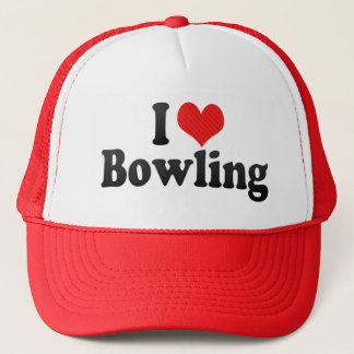 I Love Bowling Trucker Hat