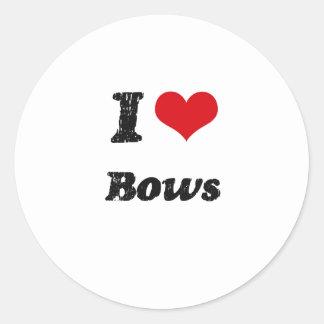 I Love BOWS Classic Round Sticker