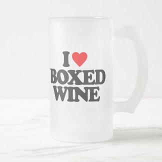 I LOVE BOXED WINE FROSTED GLASS MUG
