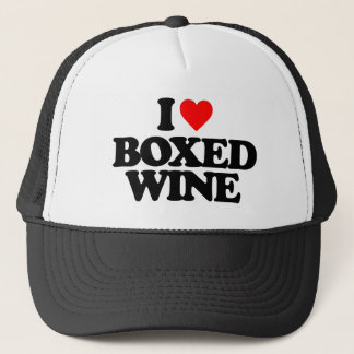 I LOVE BOXED WINE TRUCKER HAT