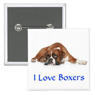 I Love Boxers Pin