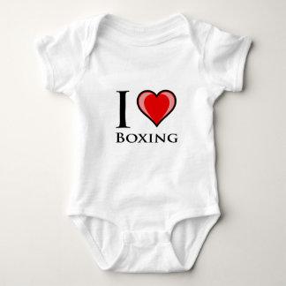 I Love Boxing Baby Bodysuit