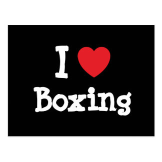 I love Boxing heart custom personalized Postcards