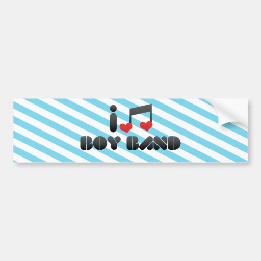 I Love Boy Band Bumper Stickers