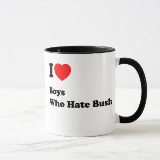 I Love Boys who Hate Bush Coffee Mug