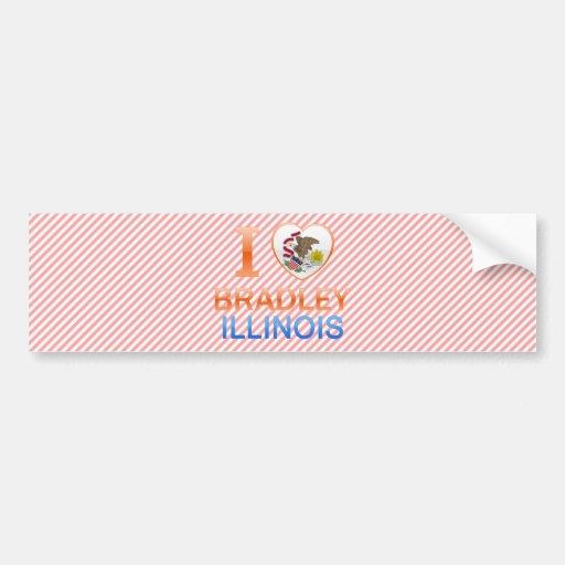 I Love Bradley, IL Bumper Stickers