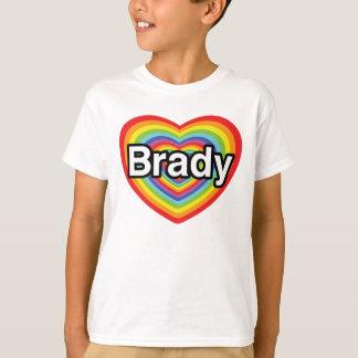 I love Brady: rainbow heart T-Shirt
