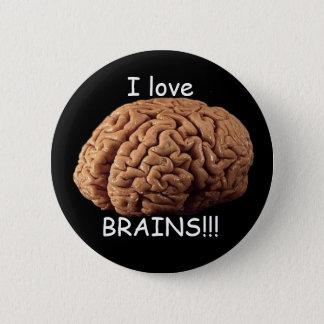 I love BRAINS!!! 2 Inch Round Button