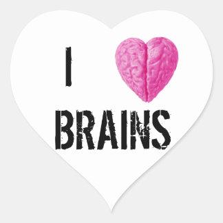 I Love Brains Heart Sticker