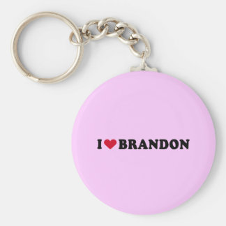 I LOVE BRANDON KEYCHAIN
