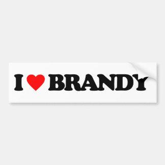 I LOVE BRANDY BUMPER STICKER