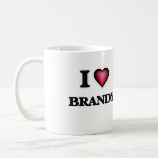 I Love Brandy Coffee Mug