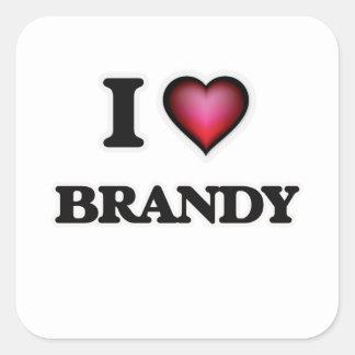 I Love Brandy Square Sticker