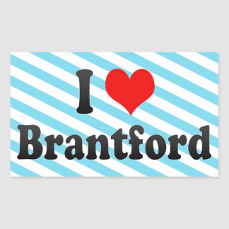 I Love Brantford, Canada Sticker