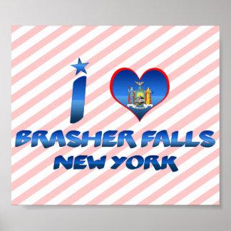 I love Brasher Falls, New York Print