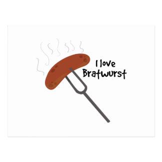 I Love Bratwurst Postcard
