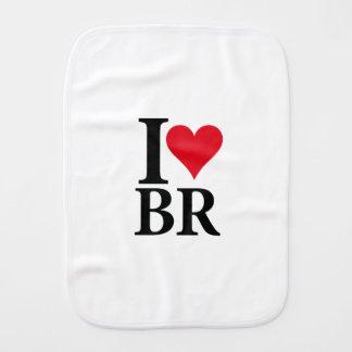 I Love Brazil BR Edition Burp Cloth