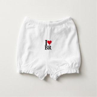 I Love Brazil BR Edition Diaper Cover