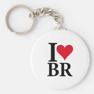 I Love Brazil BR Edition Keychain