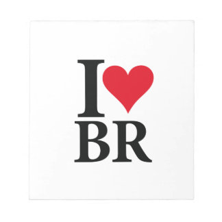 I Love Brazil BR Edition Notepad