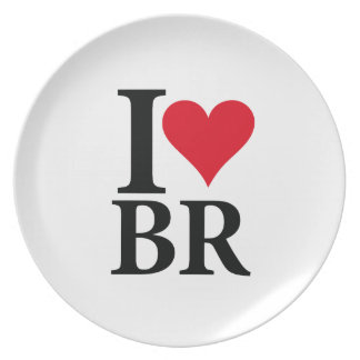 I Love Brazil BR Edition Plate