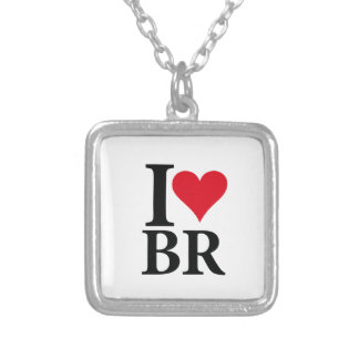 I Love Brazil BR Edition Silver Plated Necklace