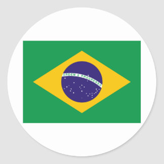 I Love Brazil Classic Round Sticker