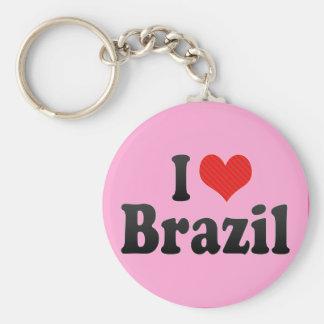 I Love Brazil Keychain