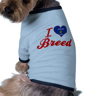 I Love Breed, Wisconsin Dog Tshirt