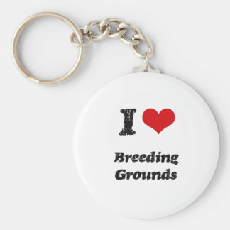 I Love BREEDING GROUNDS Keychain