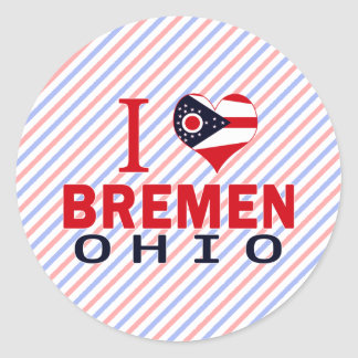 I love Bremen, Ohio Classic Round Sticker