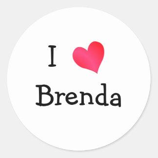 I Love Brenda Round Sticker