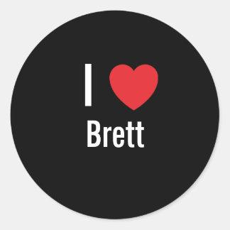 I love Brett Round Sticker
