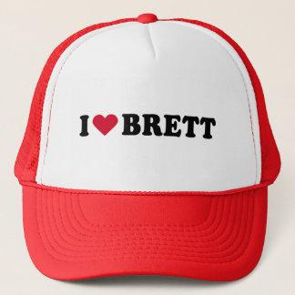 I LOVE BRETT TRUCKER HAT